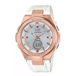 NEW CASIO G-MS Baby G Shock Pink Rose Gold Watch